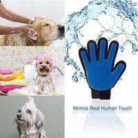 Щетка для удаления волос на руках Перчатки для удаления волос Кошки Собаки Универсальный очищающий массаж Силиконовые перчатки для купания Кисточка Pet Left Right DH0271