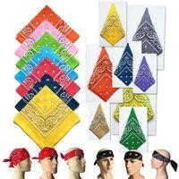 Bandas Ciclismo Bandana Bandana lenços quadrados cachecol Paisley Cabelo Outdoor Sports Headwear mágico Lenços ZZA2329 2400Pcs