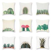 Cactus Botânica Padrões Travesseiros Capa Restaurando Antigos Pêssego Velvet Pillowslips Abacaxi Flor Padrão Fronha Venda Quente 4sx L1