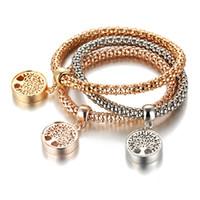 Tree of Life Bracelets Vintage Designer Rhinestones Gold Color Diamond Charm Bracelet Popcorn Chain Jewelry para Mujeres Regalo de Navidad