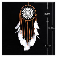 Commercio all'ingrosso Bella creatività a mano tradizionale piuma bianca Dream Catcher Wall Hanging Car Hanging Decoration Ornament Gift Coffee