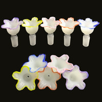 새로운 14mm 18mm 남성 유리 그릇 두꺼운 pyrex 유리 화려한 꽃 스타일 봉 그릇 유리 흡연 봉수 파이프