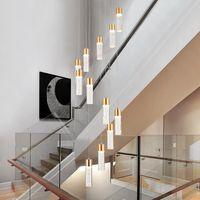 الحديث LED الثريا غرفة المعيشة من الدول الاسكندنافية ومواعيد المباريات مصباح قلادة درج الإضاءة علوي طويلة معلقة أضواء السقوف العالية