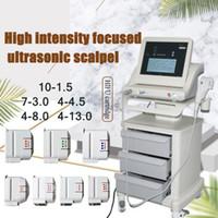 Effetive Real HIFU Ultrasonido focalizado de alta intensidad Hifu Máquina de lifting facial Anti envejecimiento con 3 cartuchos o 5 cartuchos para el cuerpo de la cara