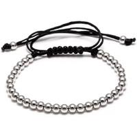 Männer und Frauen Geschenk 4mm Gold Schwarz Silber Perle Charme Armband 6pcs / Set Online Heißer Verkauf
