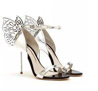 Vendita calda-Sophia Webster ali di farfalla sandali gladiatore tacchi alti cinturino alla caviglia stiletti vestito da partito sandali zapatos mujer