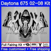 Body ligjt bianco Per Triumph Daytona 675 2002 2003 2004 2005 2006 2007 2008 322HM.50 Daytona 675 Daytona675 02 03 04 05 06 07 08 Kit carena