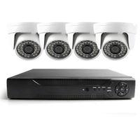 الجملة 4ch كامل ahd cctv نظام dvr كيت nightvision الأمن 480TVL قبة كاميرا مراقبة الفيديو