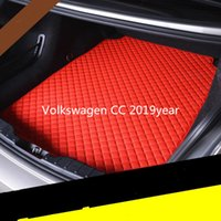 Volkswagen CC 2019year car anti-skid mat Custom anti-skid leather car trunk mat floor mat suitable