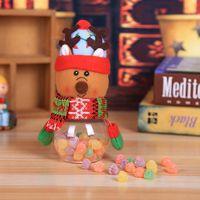 1PC Bambino Bambini Natale Contenitore per dolciumi Bottiglia di immagazzinaggio Borsa di Babbo Natale Scatola di Natale dolce Regali regalo Scatola di immagazzinaggio sveglia L * 5