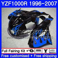 Body For YAMAHA Flammes bleues chaudes YZF1000R Thunderace 02 03 04 05 06 07 238HM.39 YZF 1000R YZF-1000R 2002 2003 2004 2006 2006 2007 2007 Kit de carénage