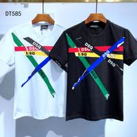 DSQ Phantom Turtle 2020ss New Mens Designer T-shirt Paris Mode T-shirts Été DSQ T-shirt T-shirt Homme Top Qualité 100% coton Top 6794