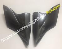 2 х Carbon Fiber Tank Side Covers Kit панели мотоцикла для Kawasaki ZX10R 2006 2007 ZX10R 06 07 ZX 10R накладку