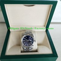 TOP factory Blue Dial 41mm New Style V2 Strap 123666 Christm...