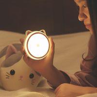 Ímã pode absorver luz noturna recarregável por indução corpo humano inteligente UBS LED cabeceira quarto lâmpadas venda quente transfronteiriça