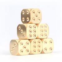 Бесплатная доставка Vintage Golden Dice Copper многогранника Metal Solid Heavy Duty пинцет 15X15X15mm Play Game Tools