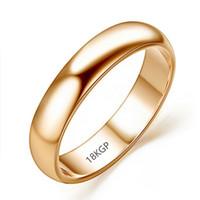18KGP 스탬프 최고 품질 로즈 골드 링 보석 선물 도매 R050으로 여성과 남성의 경우 원래 진짜 순금 반지