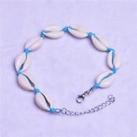 Bracelet carré naturel bijoux bijoux mer coquille de mer conque perles d'été plage bijoux charme de chars de homards personnalisé bracelets de corde de corde bracelets