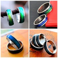 High Quality 50PCS Stainless Steel Magic Mood Ring Temperatu...