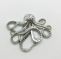 20 teile / los Große Octopus Legierung Charme Anhänger Retro Schmuck DIY Keychain Tibet Silber Anhänger Für Armband Ohrringe 35 * 43mm