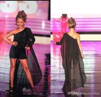 Fille noire mignonne fleur robes pour SOIRÉE une épaule dentelle Little Girls Birthday Party Dress avec robe de Cape enfant en bas âge Pageant Romper