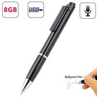 뜨거운 판매 휴대용 디지털 음성 레코더 펜 4 기가 바이트 8 기가 바이트 노이즈 감소 스테레오 오디오 녹음 USB 플래시 무손 Mp3 플레이어