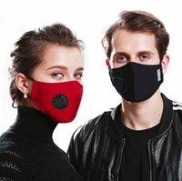 Resuable Face Mask med andningsskydd Kolfliter Anti Dammsjusterbara skyddsmaskiner med 2 fliter i lager