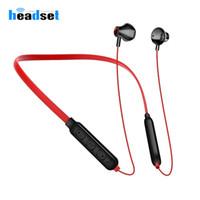 iphone samsung kulaklık için Manyetik Sports tws 5.0 Bluetooth Kulaklık kulaklık Boyun Kablosuz Kulaklık Gürültü Azaltma Müzik kulaklıklar