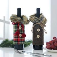Tovaglia regalo Decor Bottiglia Vino nuovo Natale della copertura del sacchetto di natale del partito di festival