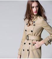 BURDULLY الخريف المرأة مزدوجة الصدر معطف طويل خندق مع حزام الكلاسيكية عارضة مكتب سيدة الأعمال أبلى الخريف