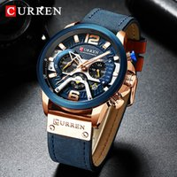 Top Brand CURREN Luxury Mens Chronograph fashion Waterproof ...