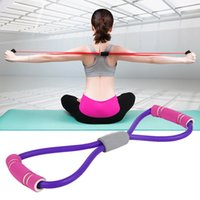 8-förmigen Brustexpansionsvorrichtung 3Colors Rubber Latex-elastisches Band Stretching Yoga Training Fitness Fitnessausrüstung