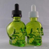 Os mais recentes de garrafa do suco Crânio 30ML vidro Drip Esvaziar E Cig Dropper Container de alta qualidade para o E-cigarro Vape Oil Hot bolo DHL grátis