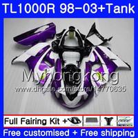 + Tank voor Suzuki Srad TL 1000 R TL1000R PAARS WIT HOT 98 99 00 01 02 03 304HM.11 TL1000 R TL 1000R 1998 1999 2000 2001 2002 2003 Valerijen