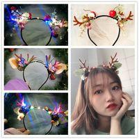 LED Saç Işıklar Flaş Örgü Papatya Ejderha Horn Cadılar Bayramı Noel Aydınlık Headdress Boynuz Hairband Elk Kedi Kulakları Aktivite Partisi Performansı