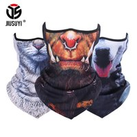 Scaldacollo 3D Animal Warmer Half Face Mask Tube Antivento Bicicletta Balaclava Sciarpa Snowboard Halloween Cat Dog Foulard