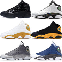 Men cap and gown 13 13s Jumpman basketball shoes black cat H...