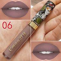 El más reciente de lujo nuevo maquillaje CmaaDu Mate 6 colores del lápiz labial líquido a prueba de agua y de larga duración cráneo Tupe Barras de labios Lip Gloss Maquillaje 3001318
