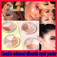 .2019 Trucco per il viso Cosmetici CmaaDu Evidenziatore Illuminare Illuminare Shimmer Palette Base Illuminator Lunga durata Contour Bronzer