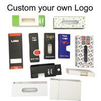 Bolso del logotipo de la caja del OEM personalizada Diseño de envases Vape Cartuchos personalizada paquete vacío Cajas de Mylar Bolsas mangetic caja de papel caja de embalaje a prueba de niños