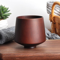 Tazza da tè in legno in stile giapponese Giuggiola Tazza in legno Birra Caffè Tazze da latte Utensili da cucina per ufficio ZC1380