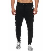 Mens-elastische Taillen-Bleistift-Hosen-Frühlings-Herbst-Mode Hosen Laufen Patchwork-Hosen für Männer