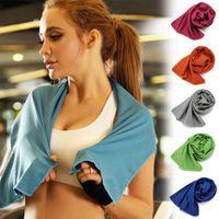 Strandtuch Sport / Face Cooling Tuch Microfiber Stoff Quick-Dry Eis Handtücher für Strand Training Fitness Übung OPP Paket VT0019