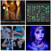 Halloween Luminous Tattoo Geist Taty für Kinder Fake Tattoo Hexe glühender in dunklen wasserdicht temporäre Tätowierung-Aufkleber 10 Art wählen