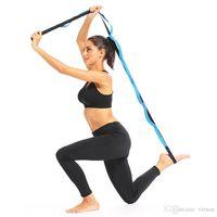 Yoga extensible Sangle Yoga aérienne Anti-Gravity corde avec Grip boucles Fitness gymnastique corde taille jambe Résistance Ceinture