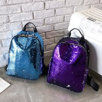 Creative Women Glitter Sequins Backpack Fashion Teenage Scho...