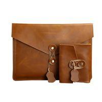 2019 de alta qualidade reais Waterproof couro Clutch Bag para iphone notebook A1989 13 polegadas novo conjunto de saco Pro interior