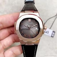 이슬람 디지털 자동 시계 40MM 고품질 5711 시계 316L 스테인레스 스틸 가죽 스트랩 사파이어 핫 판매 111