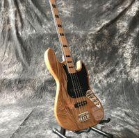 Nuova alta qualità a 4 stringhe di jazz mano Basso elettrico, chitarra su misura, in legno naturale di colore guitarra