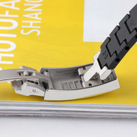 ST9 Glide Lock-Qualitäts-Uhrenarmbänder Gummi Schließe Edelstahl 16 * 9mm Gold Silber Rosegold für U-Boot-Uhr Oyster N-Uhr